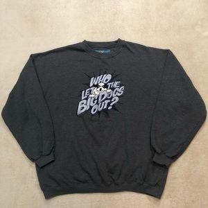 Big Dogs Vintage Dark Gray Sweatshirt, Size XL